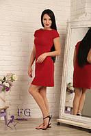 Летнее платье трапеция с коротким рукавом (4 цвета)