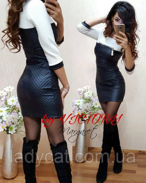 5875f74fb27 Молодежное модное мини платья из экокожи молочного цвета