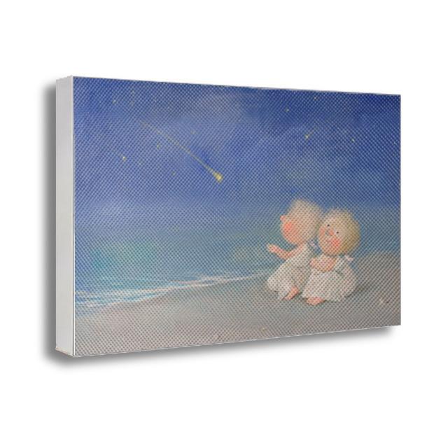 Картина с принтом на холсте Звезды в ладошки