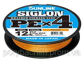 Шнур Sunline Siglon PE х4 300m (оранж.) #2.0/0.242mm 35lb/15.5kg