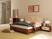 Ліжко з ДСП/МДФ в спальню Терра 1,6х2,0 з каркасом ваніль Миро-Марк