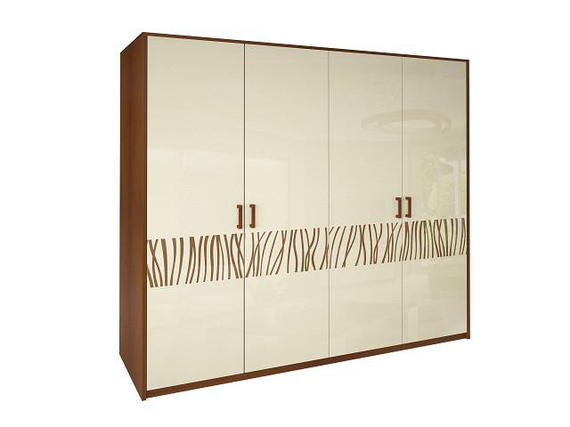 Шафа (шкаф) з ДСП/МДФ в спальню/вітальню/дитячу Терра 4Д без дзеркал ваніль Миро-Марк