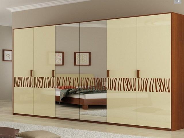 Шафа (шкаф) з ДСП/МДФ в спальню/вітальню/дитячу Терра 6Д ваніль Миро-Марк