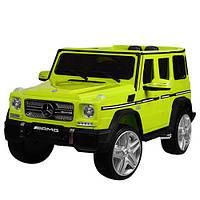 Детский электромобиль M 3567 EBLR-5 (Mercedes G65 VIP): 90W, 8 км/ч, EVA, кожа - ЗЕЛЕНЫЙ- купить оптом , фото 1