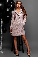 Женское демисезонное пальто из материала букле 140273