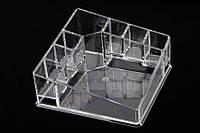 Органайзер для косметики акриловый Andersonia, материал: пластик, прозрачный, форма: квадратный, 8 отделений, длина: 19.8 см, ширина: 13.8 см, высота: