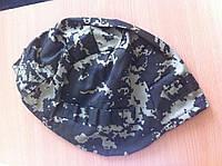 Чехол на кевларовую каску (шлем) пиксель темный