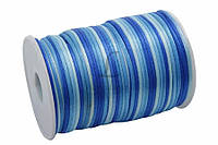 Канат декоративный Eucomis, длина 91,5 м, диаметр 2,5 мм, материал: полимер, цвет синий, лента для декора, канат для украшения