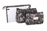 Косметичка Andira, материал: ткань и силикон, на молнии, форма: прямоугольная, размер L: 26х18х6.5 см, размер M: 22х14х5 см, размер S: 18.5х12х3 см,