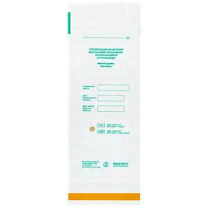 Пакет для парової, повітряної, етіленоксідної, радіаційної стерилізації паперовий Самоклеюча плоский ПСПВ-СтеріМаг 100х200 1 шт, білий