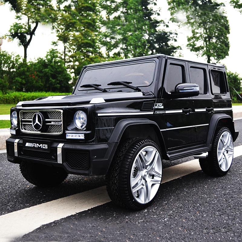 Детский электромобиль M 3567 EBLRS-2 (Mercedes G65 VIP): 90W, 8 км/ч, EVA, кожа - BLACK PAINT - купить оптом