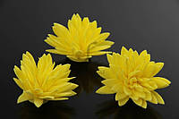 Цветок декоративный Jamesia, диаметр 3,5 см, цвет желтый, фоамиран, декоративные цветы, цветы исскуственне для рукоделия