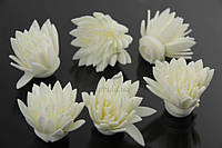 Цветок декоративный Myrica, диаметр 3,5 см, фоамиран, цвет белый, декоративные цветы, цветы исскуственне для рукоделия