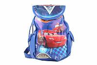 """Сумка рюкзак детская """"Тачки"""", цвет: синий, длина: 18 см, высота 30 см, материал: ПВХ, на затяжках, 1 отделение, 2 внешних кармана, рюкзак для ребенка"""