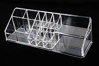 Органайзер для косметики акриловый Darlingia, материал: пластик, прозрачный, форма: треугольный, 14 отделений, длина: 28 см, ширина: 8.8 см, высота: