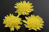 Цветок декоративный Orixa, диаметр 3,5 см, фоамиран, цвет желтый, декоративные цветы, цветы исскуственне для рукоделия
