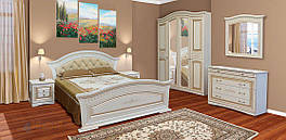Спальня комплект з ДСП/МДФ 4Д (без матрасу та каркаса) Ніколь (патина) Світ Меблів