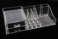 Органайзер для косметики акриловый Bloomeria, материал: пластик, прозрачный, форма: прямоугольный, 19 отделений, длина: 29.5 см, ширина: 14 см,