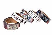Скотч декоративный Clivia, длина: 10 м, ширина: 15 мм, разноцветный, толстый, декоративный скотч, лента, скотч с рисунком