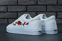 Женские кеды Vans Old School Roses White. ТОП Реплика ААА класса., фото 2