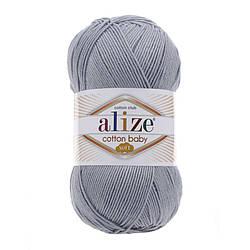 Пряжа Коттон бэби софт Cotton Baby Soft  Alize, № 21, серый