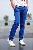Синие мужские брюки 28р.