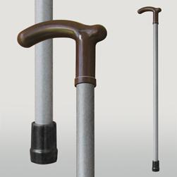 Трость деревянная МИРТА -1 Серый пластик