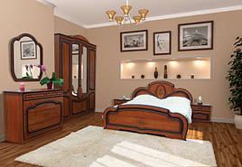 Спальня комплект з ДСП/МДФ 4Д (без матрасу та каркаса) Поліна (патина) Світ Меблів