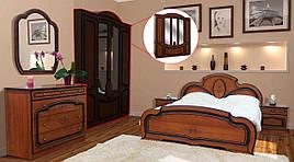 Спальня комплект з ДСП/МДФ 5Д (без матрасу та каркаса) Поліна (патина) Світ Меблів