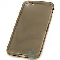 Чехол силиконовый Premium iPhone 7 затемненный