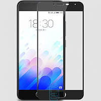 Защитное стекло Meizu M3, M3 mini, M3s Full Glue 2.5D black тех.пакет
