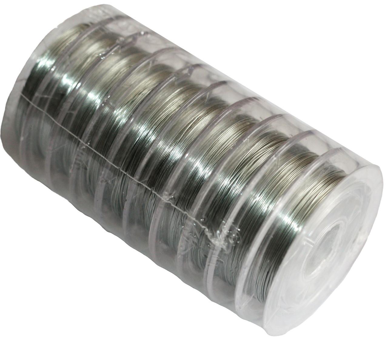 Проволока для бисера (0.30mm/10m) серебро