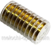 Проволока для бисера (0,30mm/10m) золото