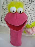 """Перчаточная игрушка на руку в стиле маппет """"птица"""" для Кукольного театра"""