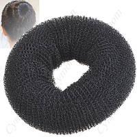 Бублик для волос средний d 9см черный
