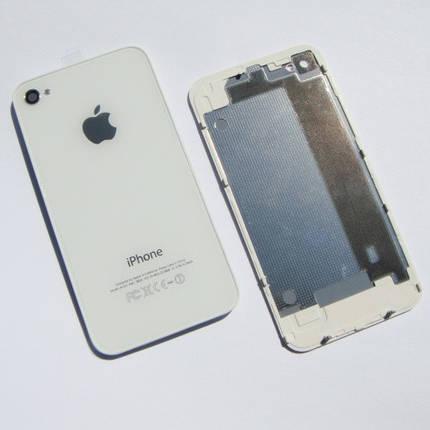 Задняя крышка IPhone 4G Белая ААА стекло, фото 2
