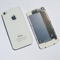 Задняя крышка IPhone 4G Белая ААА стекло