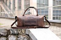 Коричневая дорожная кожаная сумка, Спортивная сумка из натуральной кожит
