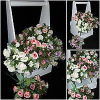 Искусственные розы для интерьера, выс. 30 см., 46/36 (цена за 1 шт. + 10 гр.)