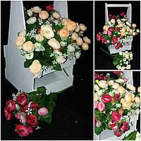 Камелия - букеты искусственных цветов, выс. 35 см., 46/36 (цена за 1 шт. + 10 гр.)