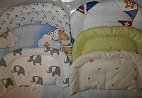 Подушка детская антиалергенная для детей внутри холлофайбер от 0 мес.