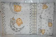 """Подушка для малышей в кроватку от -0 мес """"Мишки"""""""
