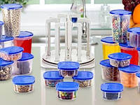 Набор судочков для еды контейнеры Smart Spin 49 pcs