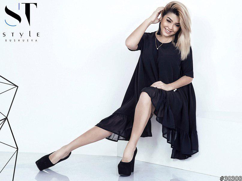 """Платье  больших размеров  """" Арабель """"   р-р 48-52 в стиле """"Oversize"""" 121/8883"""