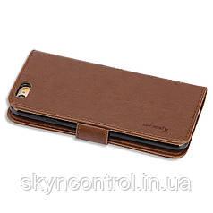 Шкіряний чохол для iPhone 6/6s Korecase iPhone 6/6S Leather Flip Case Cover Butterfly & Flower Pattern brown
