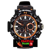 Часы  MTG-1000 Черные с оранжевым