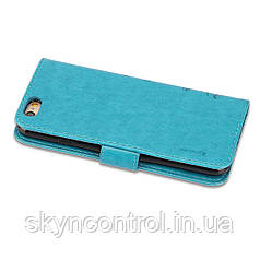 Шкіряний чохол для iPhone 6/6s Korecase iPhone 6/6S Leather Flip Case Cover Butterfly & Flower Pattern blue