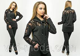 Молодежный спортивный костюм Надин (черный)