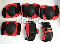 Детская защита комплект для роликов скейта велосипеда самоката экипировка защитная красная