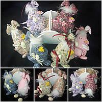 """Текстильный кролик """"На щастя"""" в пасхальную корзину, ручная работа, выс. 19-20 см., 115/95 (цена за 1 шт+20 гр)"""
